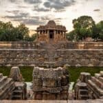 The Unruffled Peaceful Landscape and the Majestically Welcoming Modhera Sun Temple of Gujarat
